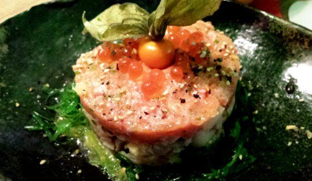Tartare di salmone e pesce misto