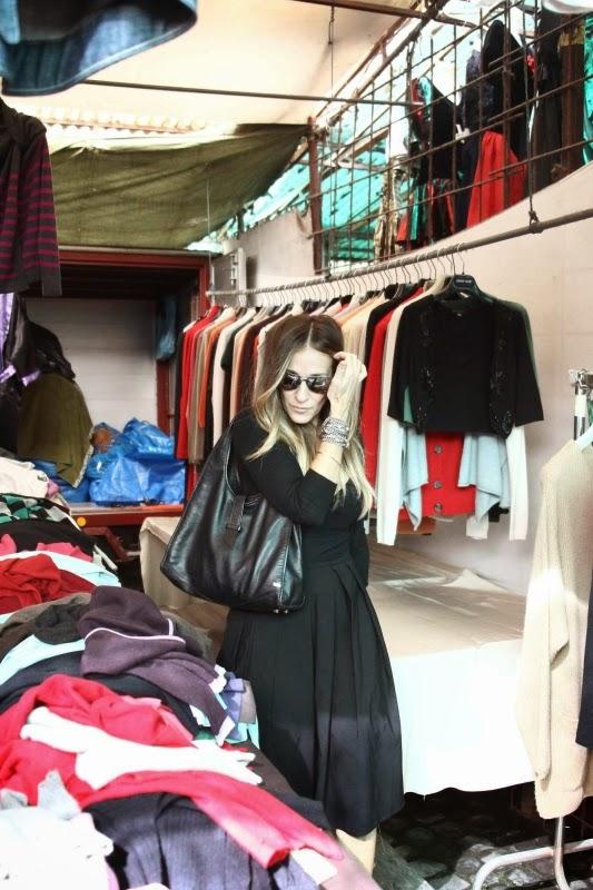 Sara Jessica Parker al mercatino di via Sannio