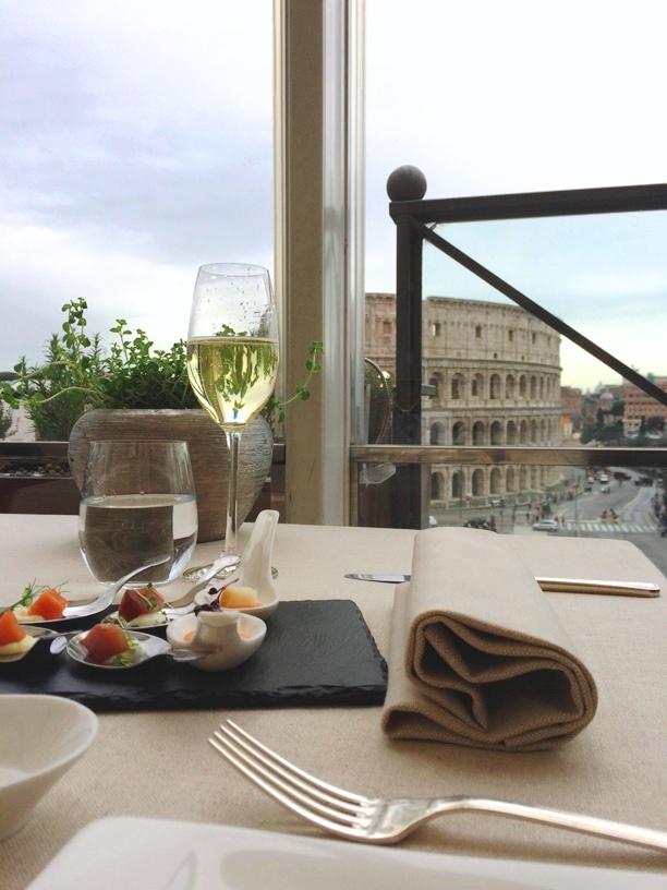 Aroma, la cucina mediterranea di Di Iorio con vista Colosseo -