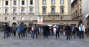 La marcia rumorosa dei Ristoratori, quelli Toscani a piedi a Palazzo Chigi